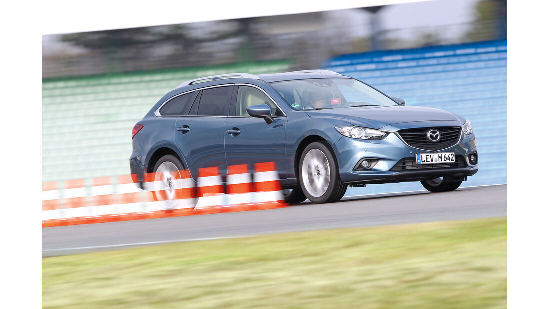 Mazda 6 2.2 D, Seitenansicht, Bremstest