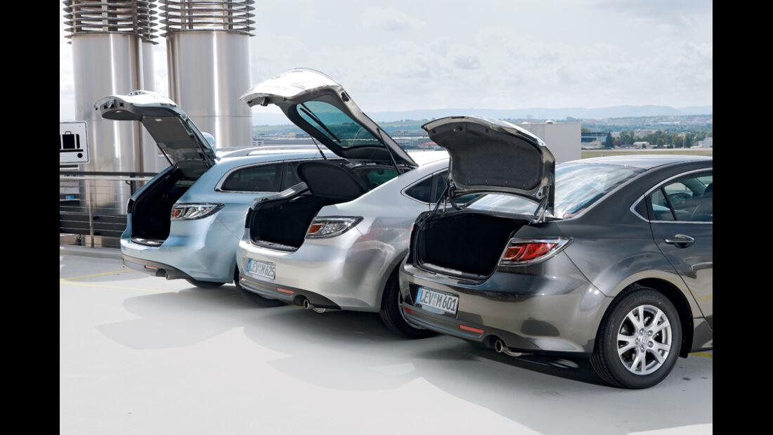 Mazda 6, Hecklappe offen, verschiedene Modelle