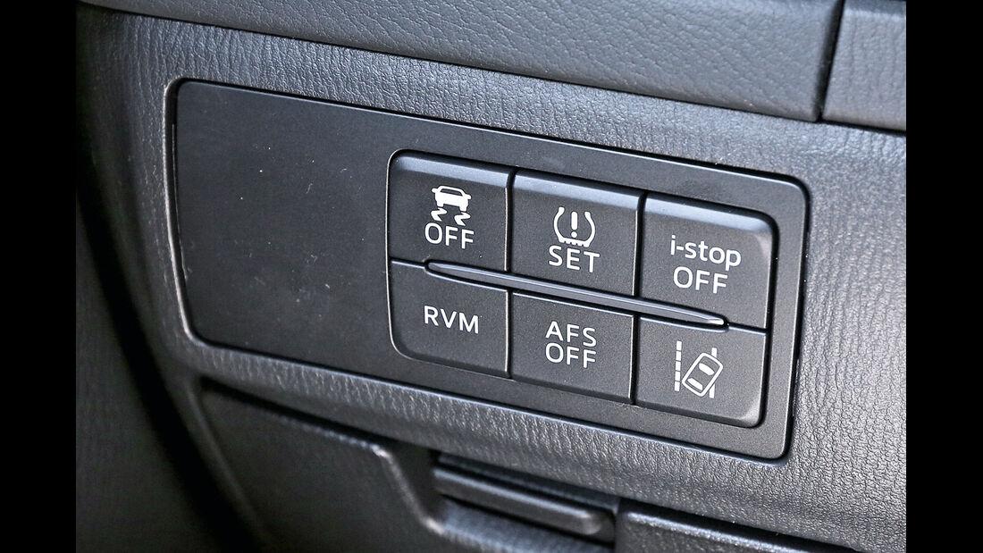 Mazda 6 Kombi 2.2 L D, Bedienelemente