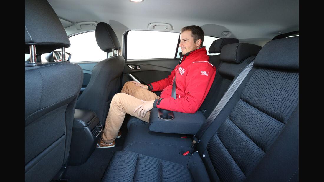 Mazda 6 Kombi 2.2 L D, Fondsitz, Beinfreiheit