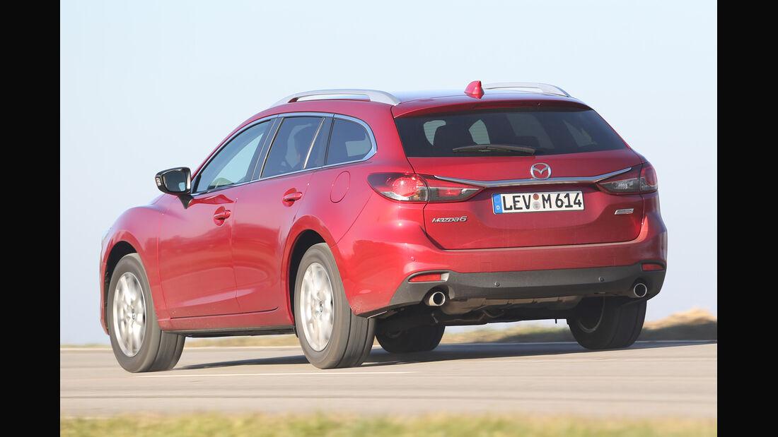 Mazda 6 Kombi 2.2 L D, Heckansicht