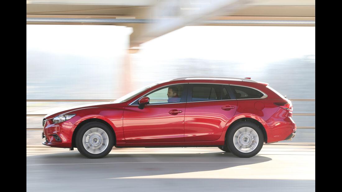 Mazda 6 Kombi 2.2 L D, Seitenansicht