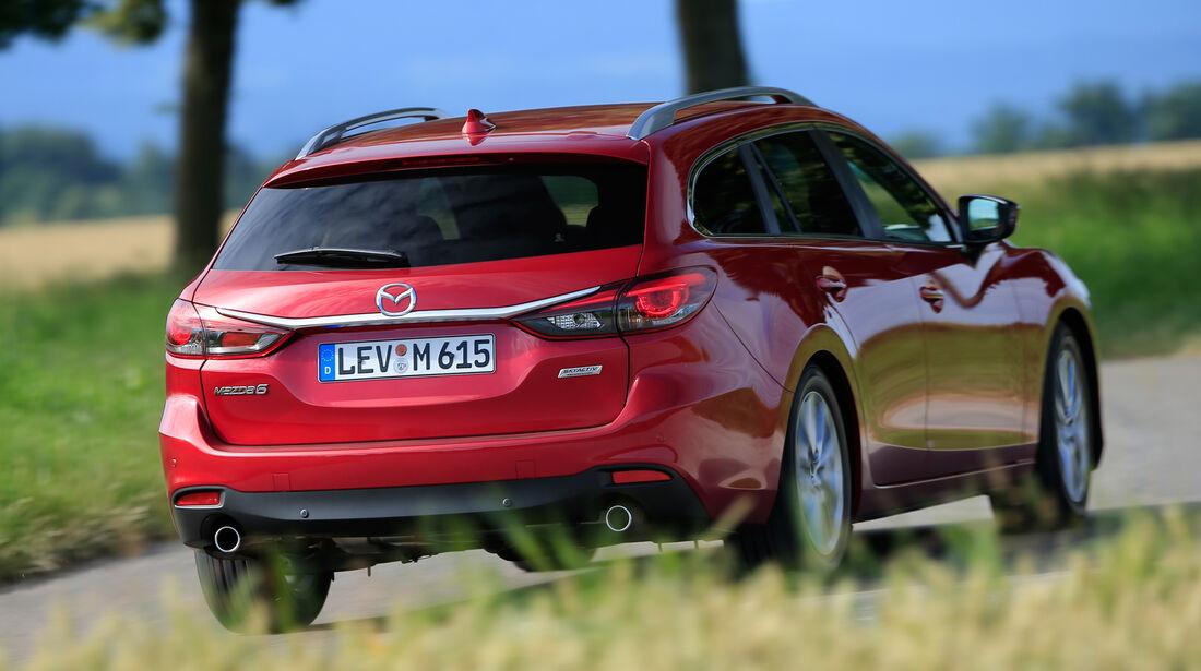 Mazda 6 Kombi D 150, Heckansicht