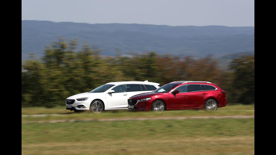 Mazda 6 Kombi D 184, Opel Insignia ST 2.0 D, Exterieur