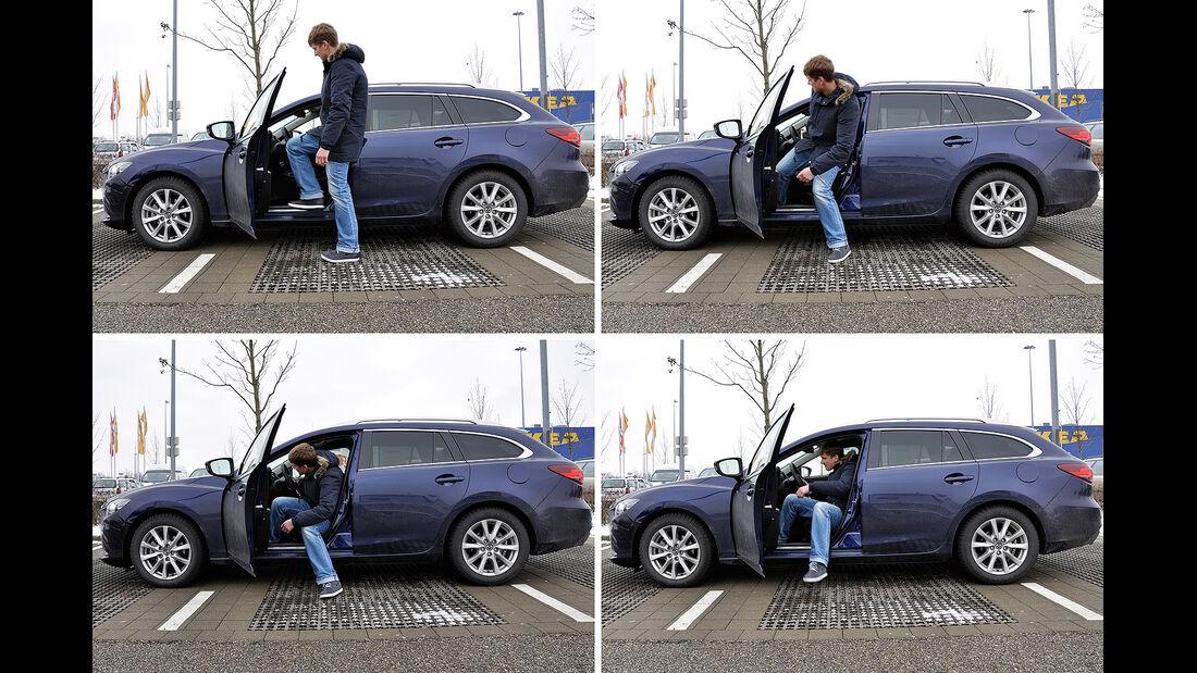 Mazda 6 Kombi, Einstieg, Fond
