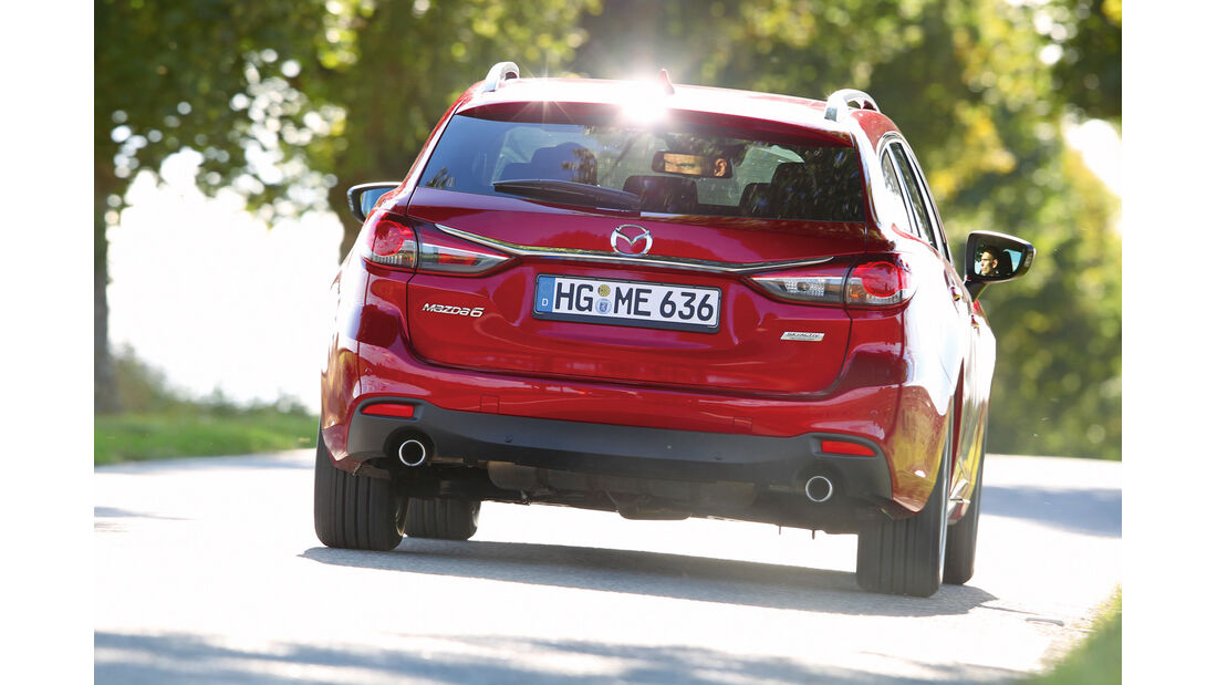 Mazda 6 Kombi, Heckansicht