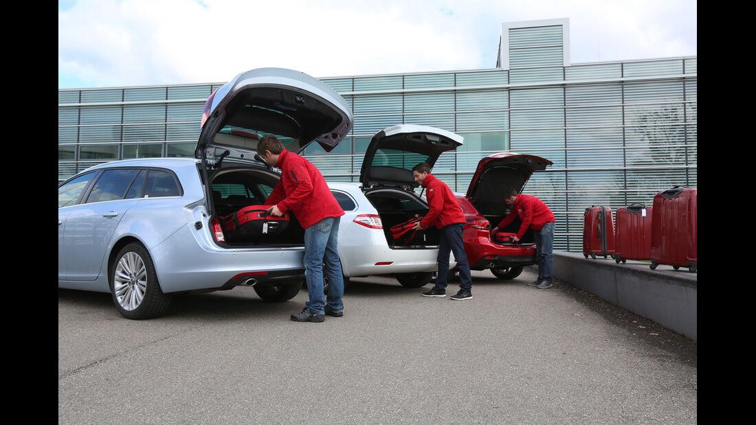 Mazda 6 Kombi, Opel Insignia Sports Tourer, Peugeot 508, Heckklappe