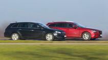 Mazda 6 Kombi, Opel Insignia Sports Tourer, Seitenansicht