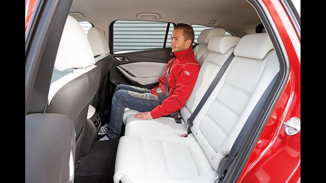 Mazda 6 Kombi Skyactiv-D 175, Fondsitz, Beinfreiheit