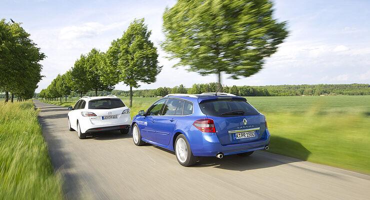 Mazda 6 Kombi und Renault Laguna