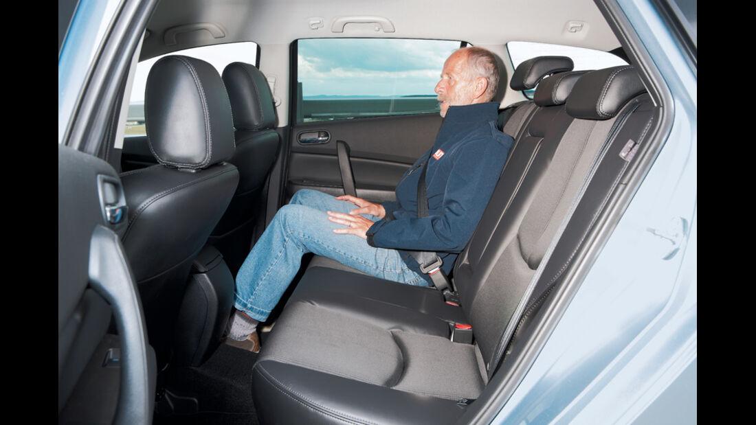 Mazda 6, Rücksitze, Kopffreiheit