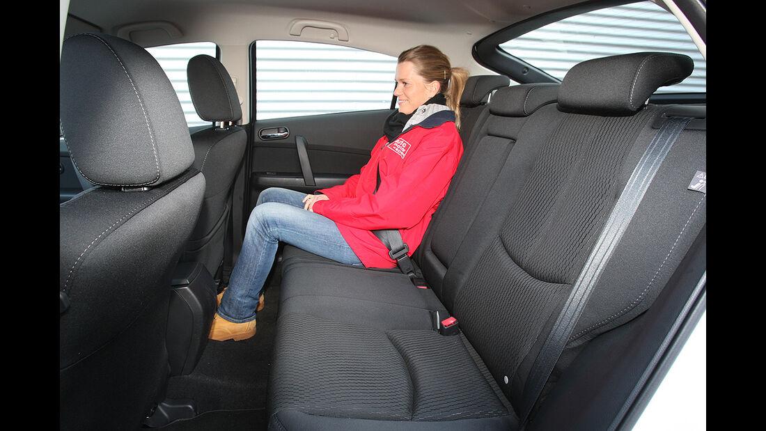 Mazda 6, Rücksitze, Rückbank