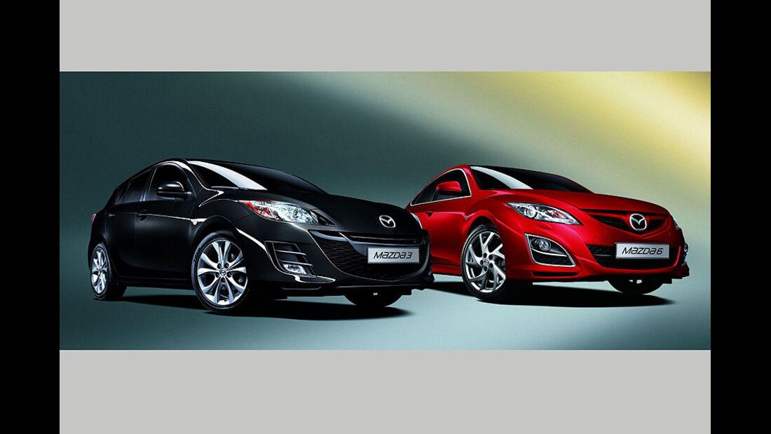Mazda 6 und Mazda 3 Edition 125 Sondermodell