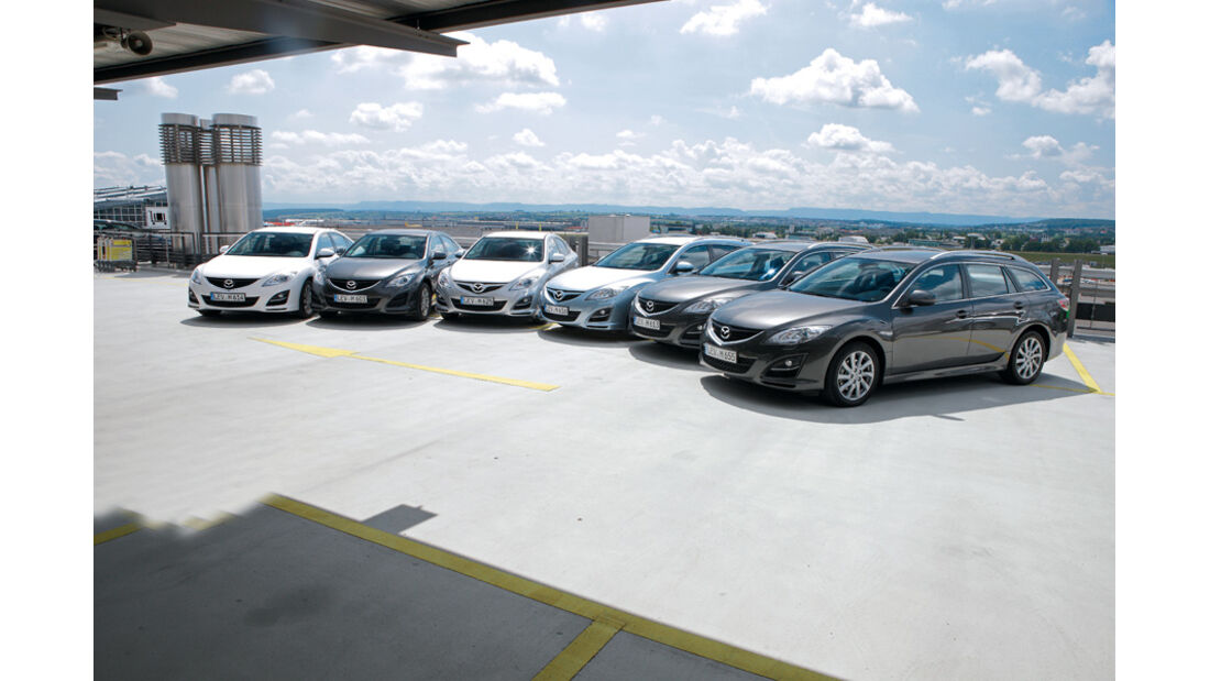 Mazda 6, verschiedene Modelle, Gruppenbild