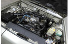 Mazda 929 Coupe, Motorraum, Detail