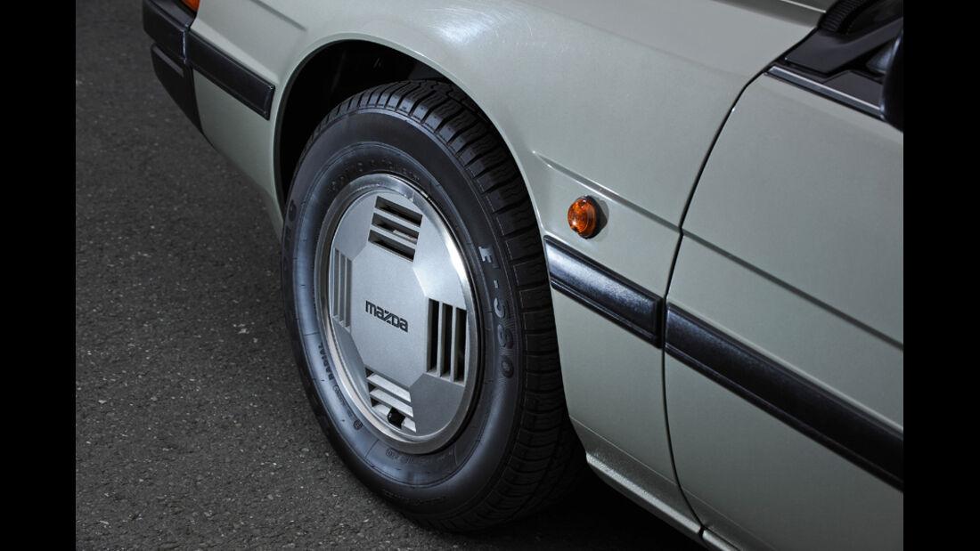 Mazda 929 Coupe, Rad, Reifen, Felge, Datail