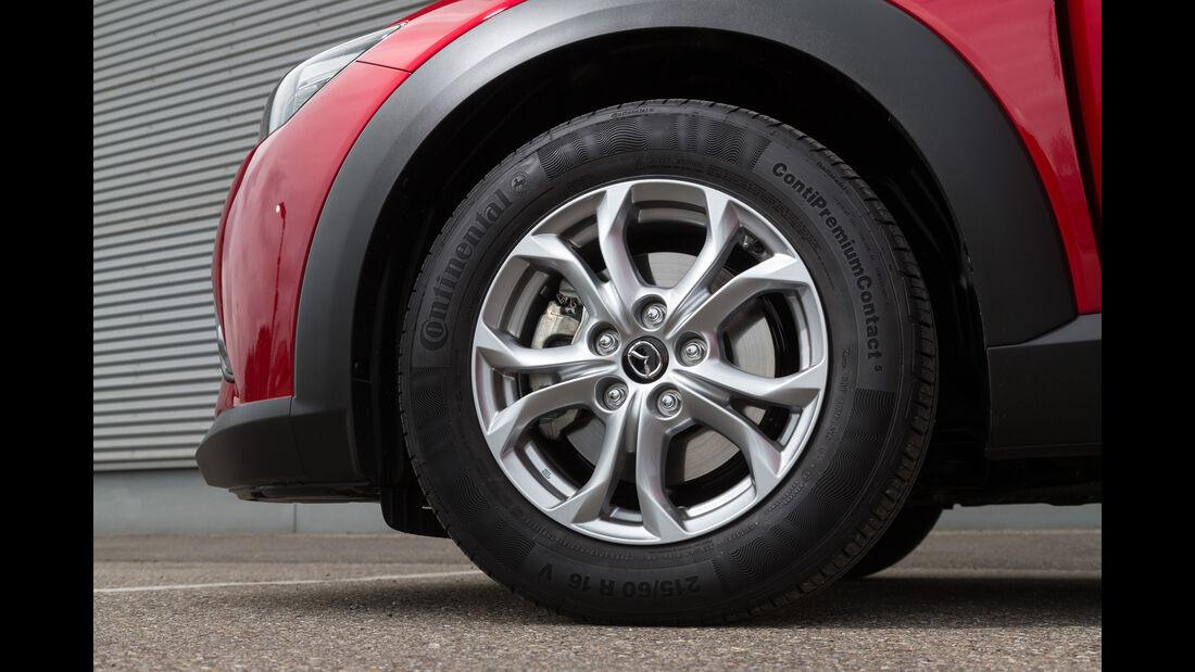 Mazda CX-3 D 105, Rad, Felge