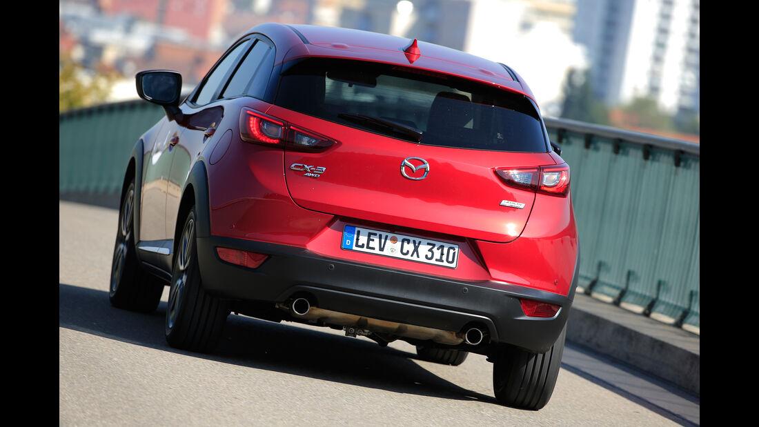 Mazda CX-3 G 150 AWD, Heckansicht