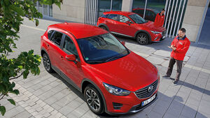 Mazda CX-3 G 150 AWD, Mazda CX-5 G 150 AWD, Draufsicht