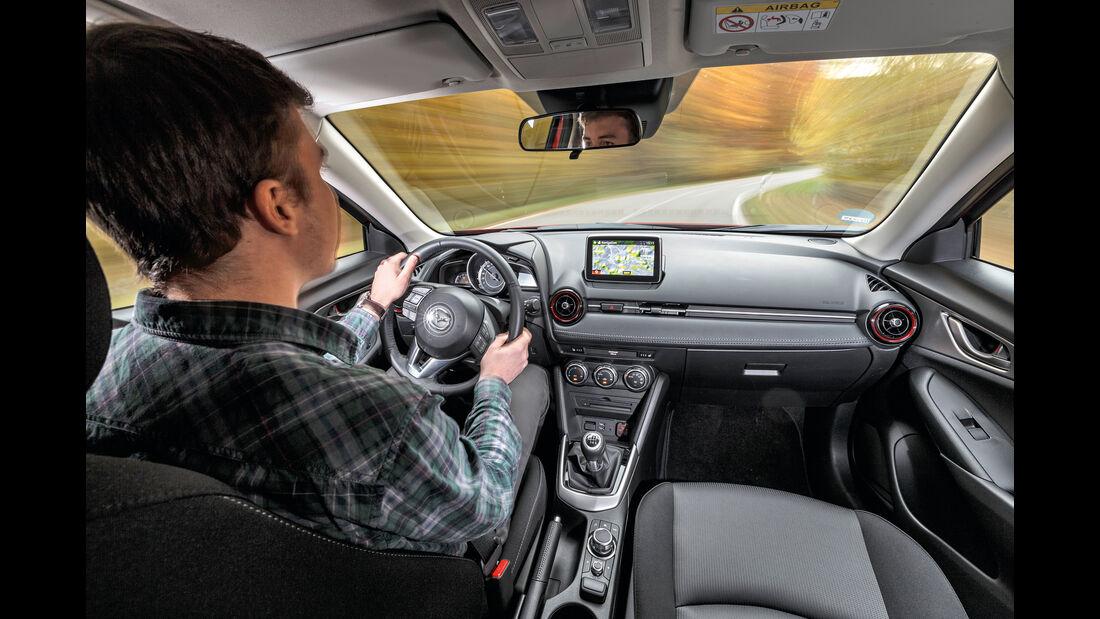 Mazda CX-3 Skyactiv-D 105, Fahrersicht