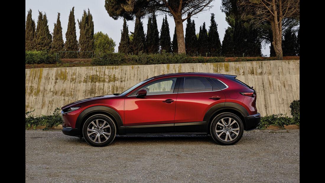 Mazda CX-30, Advertorial, 2019, Seitenansicht