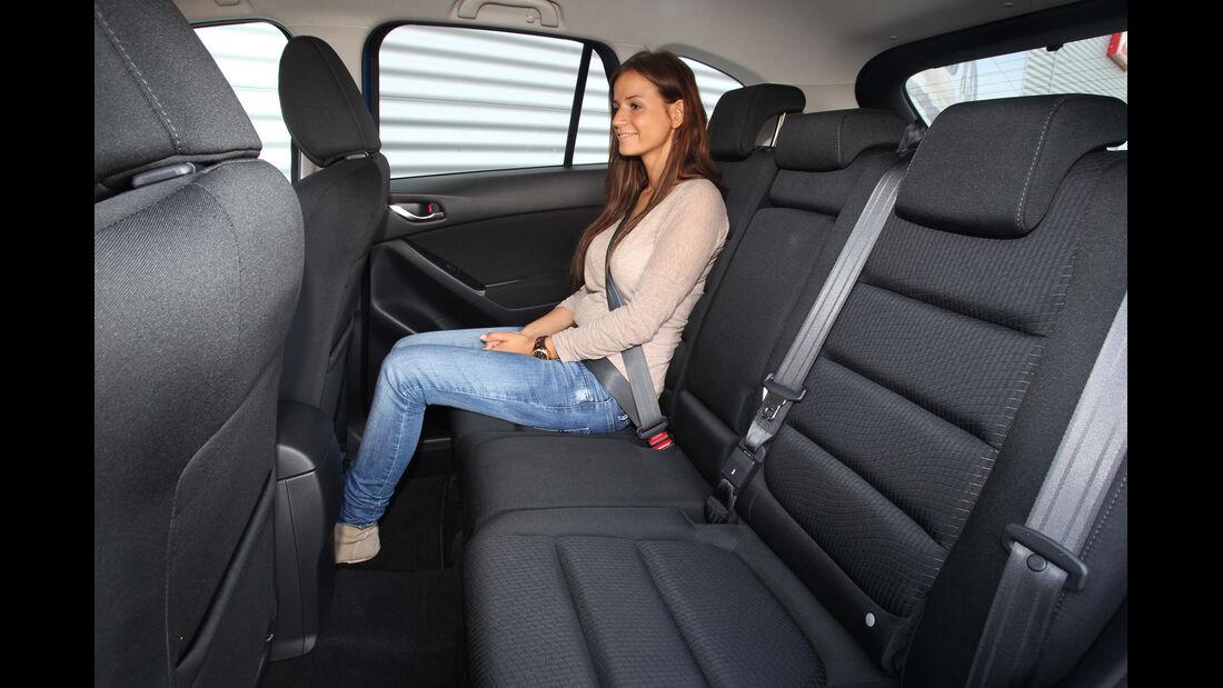 Mazda CX-5 2.0 Skyactiv-G AWD, Rücksitz, Beinfreiheit