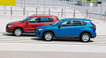 Mazda CX-5 2.0 Skyactiv-G AWD, VW Tiguan 1.4 TSI  1.4 TSI 4Motion, Seitenansicht