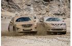 Mazda CX-5, Nissan Qashqai, Frontansicht, Schlamm