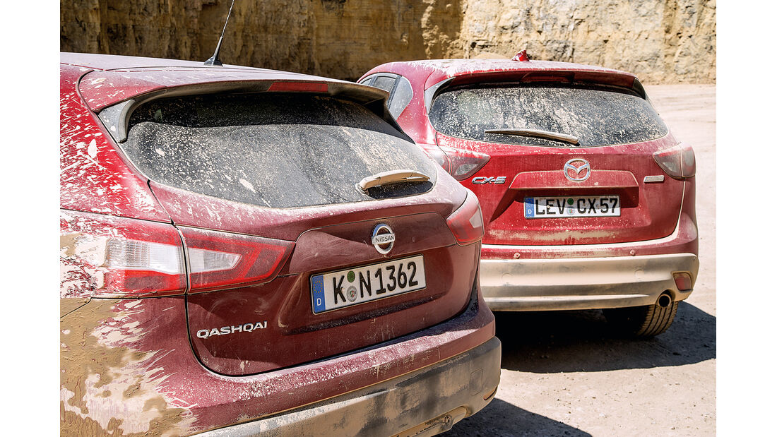 Mazda CX-5, Nissan Qashqai, Heck