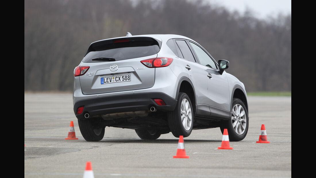 Mazda  CX-5 Skyaktiv-D AWD Sports-Line, Heck, Kurve