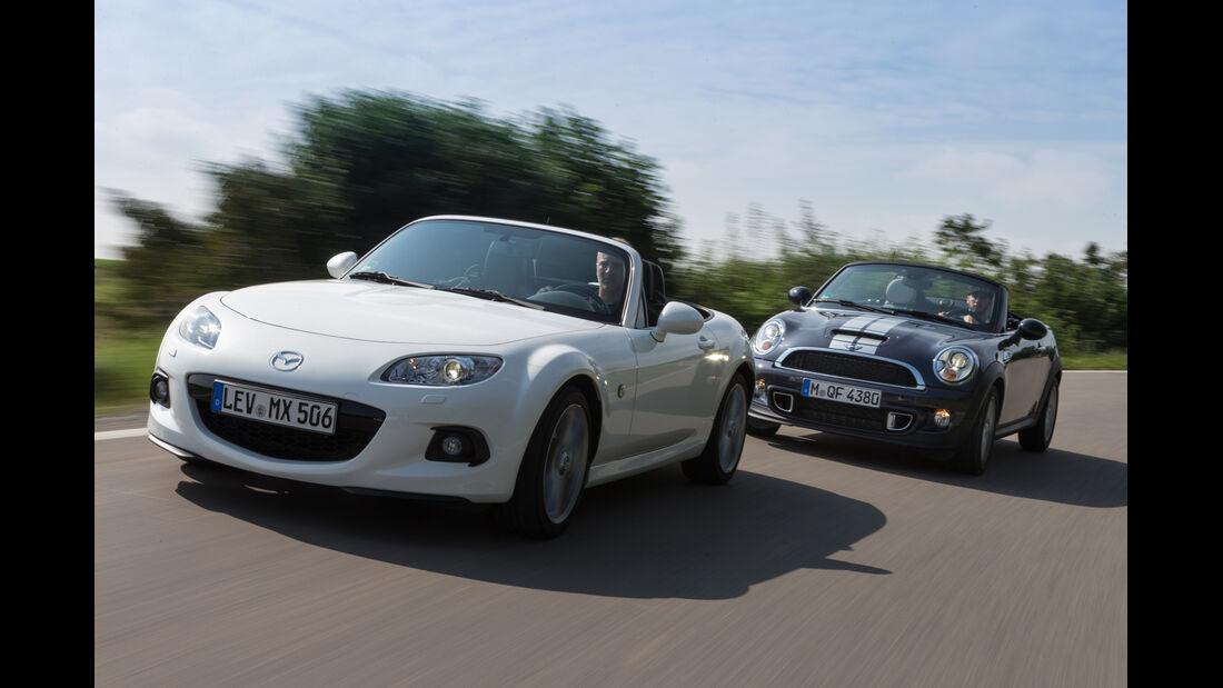 Mazda MX-5 2.0 MZR, Mini Cooper S Roadster, Frontansicht