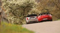 Mazda MX-5 G 160, Mini Cooper S Cabrio, Heckansicht