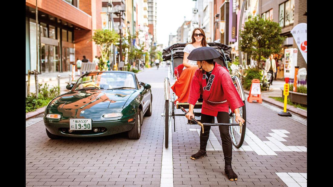 Mazda MX-5, Japan, Reise, Rikscha