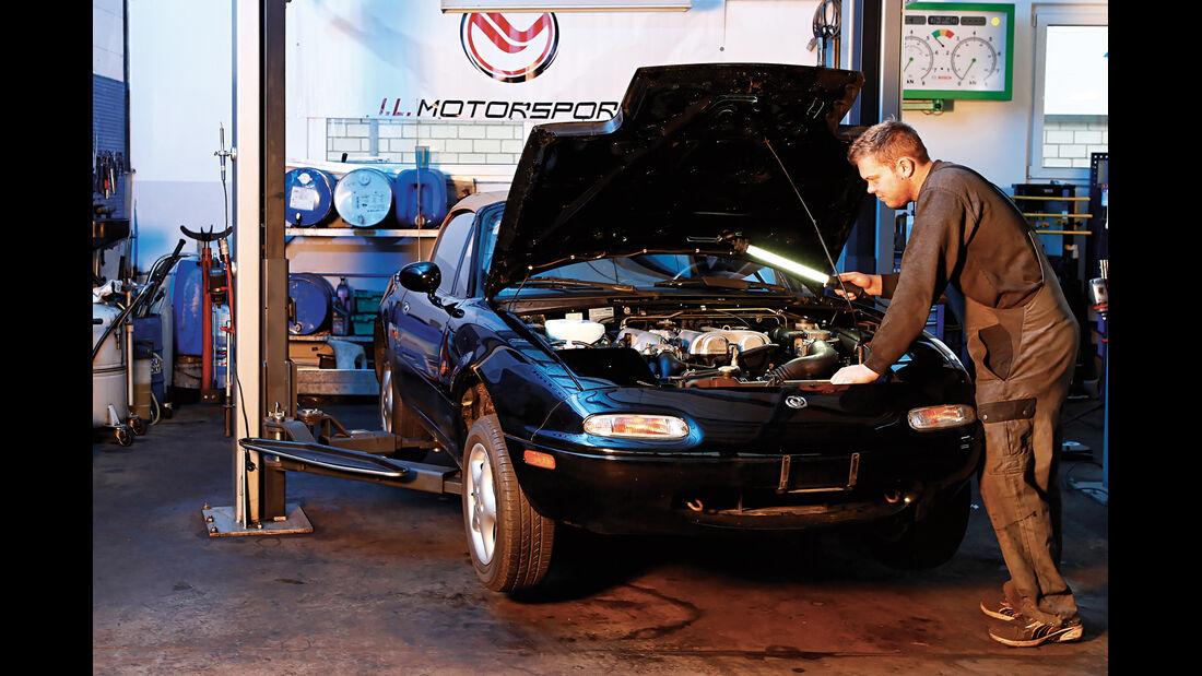 Mazda MX-5 NA, Motor, Frontansicht