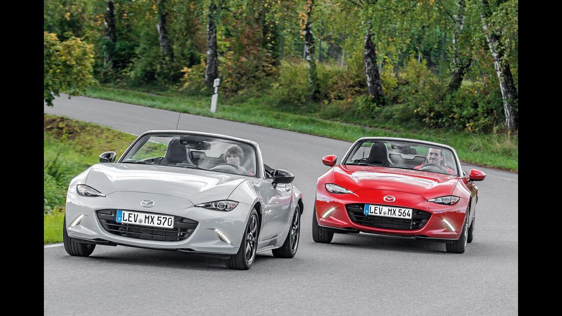Mazda MX-5 Skyactiv 1.5, Mazda MX-5 Skyactiv 2.0 i-Eloop, Frontansicht