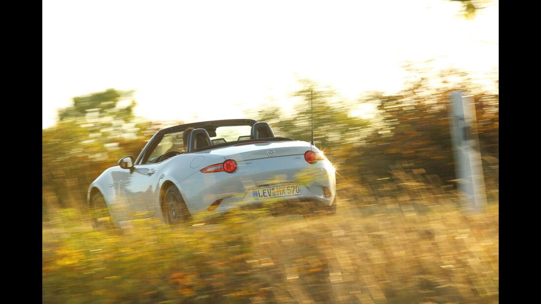 Mazda MX-5 Skyactiv-G 131, Heckansicht