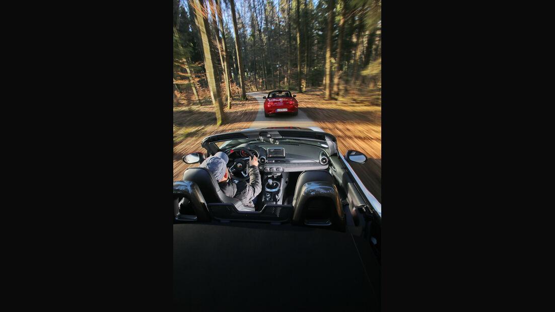 Mazda MX-5 Skyactiv-G 160, Abarth 124 Spider, Impression