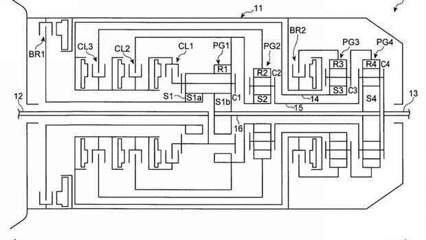 Mazda Patent Achtgang-Automatik