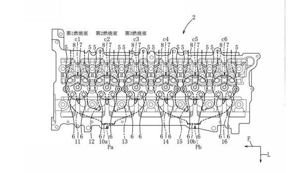 Mazda Patent Sechszylinder-Motor