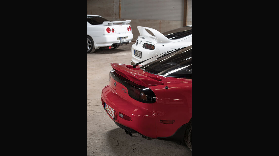 Mazda RX-7, Nissan Skyline, Toyota Supra, Heckspoiler