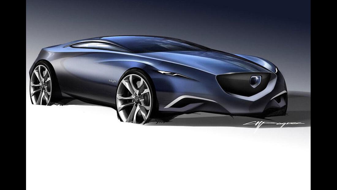 Mazda Shinari, Design-Zeichnung