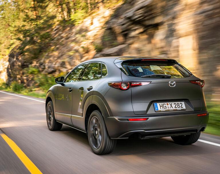 Mazda Mx 30 2020 Sitz Probe Fahrt Im Elektro Suv Auto