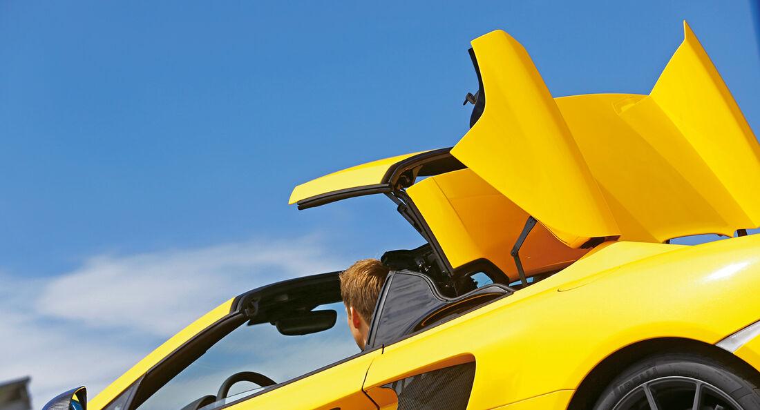 McLaren 12C Spider, Verdeck schliesst