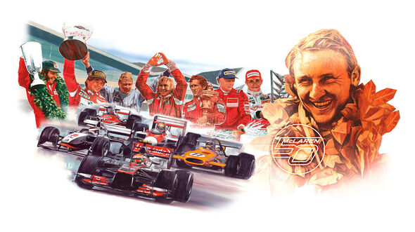 McLaren 50. Jubiläum Zeichnung 2013