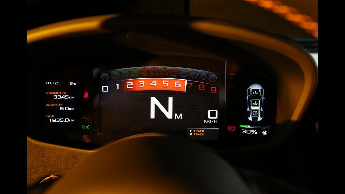 McLaren 570S, Anzeigeinstrumente