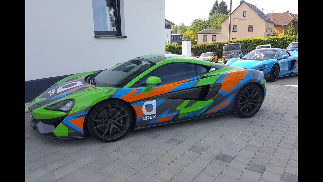 McLaren 570S - Fan-Autos - 24h-Rennen Nürburgring 2017 - Nordschleife