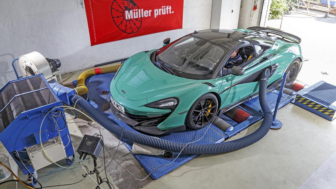 McLaren 600LT, Exterieur, Prüfstand