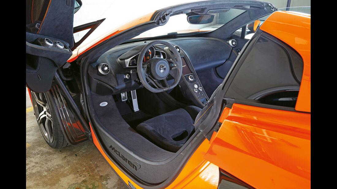 McLaren 650S Spider, Cockpit