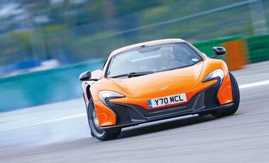 McLaren 650S Spider, Frontansicht, Driften