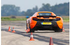 McLaren 650S Spider, Heckansicht, Bremstest